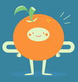 Happy Orange Smiling vector image