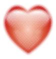 Heart halftone symbol vector image vector image