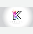 k vibrant creative leter logo design with vector image vector image