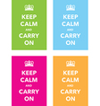 keep calm signs set vector image