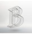 letter background Fonts vector image vector image