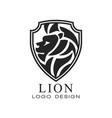 lion logo classic vintage style design element vector image vector image