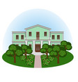 manor house in summer landscape vector image