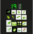 Mega collection of green summer concepts vector image vector image