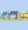 mobile cafeteria truck in city park landscape vector image