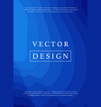 modern blue ocean wave futuristic cover vector image