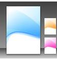 modern folder template different colors vector image vector image