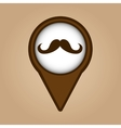 mustache hipster vintage icon vector image vector image