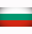 national flag bulgaria vector image vector image