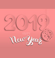 new years card year of pig 2019 from layers of vector image