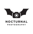 nocturnal night photography logo vector image