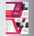 Purple trifold brochure flyer Leaflet templates vector image vector image