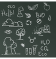 Set of Eco symbols vector image vector image