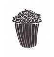 silhouette bucket full popcorn clipart