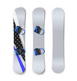 snowboards with bindings vector image