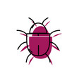 spider insect to web danger symbol vector image vector image