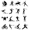 Sports people icons set vector image vector image