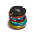 stack of casino chips in 3d vector image