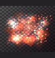 transparent blurry hearts bokeh hearts vector image vector image