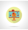 Valentines mailing icon flat round style vector image vector image
