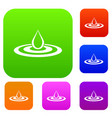 water drop and spill set collection vector image vector image