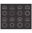 white sunburst simple design elements set vector image