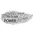wind power vs solar energy an even match text vector image vector image