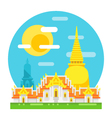 Thailand temple flat design landmark vector image