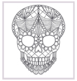 Abstract skull lace ornament vector image
