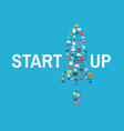 startup business concept creative vector image