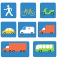 Transportation icons design elements vector image