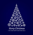Christmas tree made from snowflakes vector image