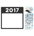 2017 Year Calendar Template Flat Icon With vector image vector image
