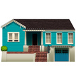 A blue residential house vector image vector image