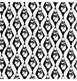 abstract black and white grunge seamless pattern vector image vector image