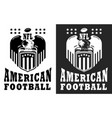 american football logo label black and white vector image vector image