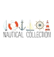 Banner with nautical elements vector image vector image