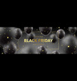 black friday sale horizontal promo banner vector image vector image
