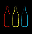 Bottles with artistic effects vector image