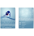 Business card with happy marlin vector image