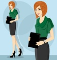 careerwoman4 vector image vector image