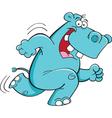 Cartoon Running Hippopotamus vector image vector image