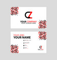 cz logo letter with box decoration on edge vector image vector image
