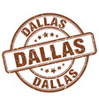 dallas brown grunge round vintage rubber stamp vector image vector image