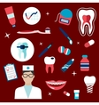 Dentistry hygiene icons and symbols vector image vector image