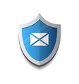 email protection envelope on shield icon security vector image vector image
