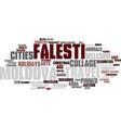 Falesti word cloud concept vector image