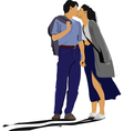 First kiss vector | Price: 1 Credit (USD $1)