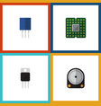 flat icon electronics set of receiver receptacle vector image vector image