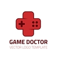 Game doctor logo vector image vector image